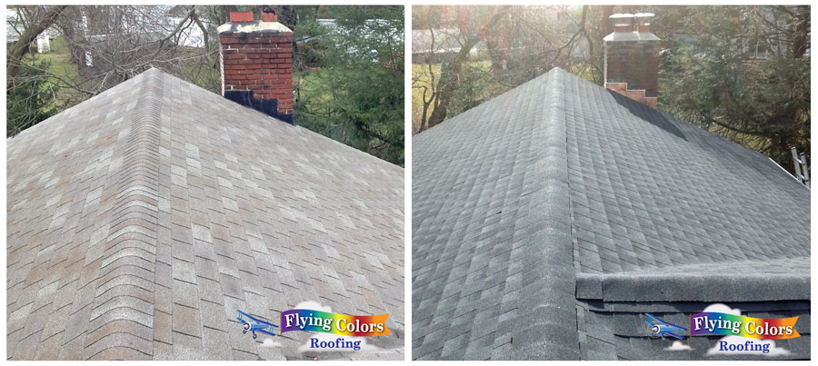 Flying Colors Roofing service project in Danbury CT region