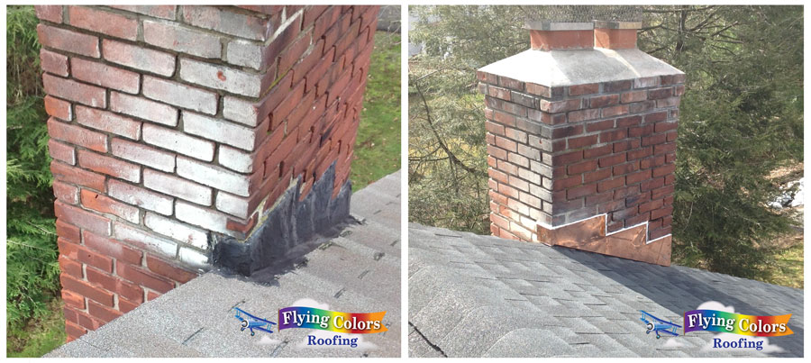 Flying Colors Roofing service project in Connecticut