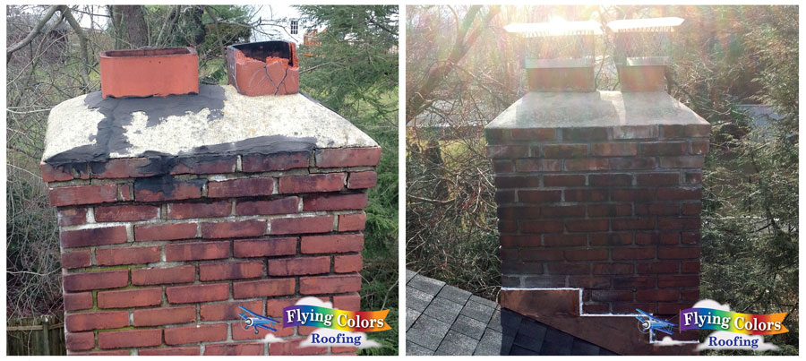 Flying Colors Roofing service example of our roofing project in Connecticut