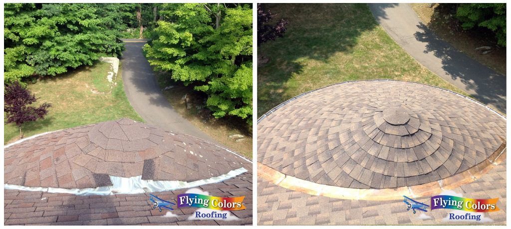 Flying Colors Roofing service project in Wilton CT (203) 918-5156